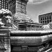 Mckinley Memorial In Black And White Poster