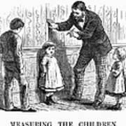 Measuring Children, 1876 Poster