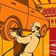 Mechanic Automotive Repairman Retro Poster by Aloysius Patrimonio
