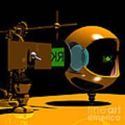 Mechanical Oculist Green Poster