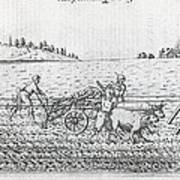 Mechanised Plough, 16th Century Artwork Poster by Middle Temple Library