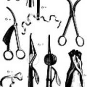 Medical Instruments, 18th Century Poster