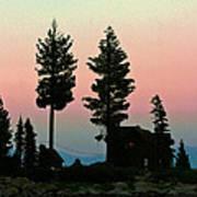 Meeks Bay Sunset. Poster
