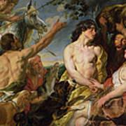 Meleager And Atalanta Poster by Jacob Jordaens