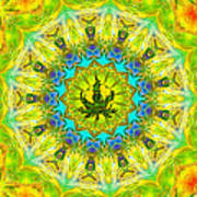Mellow Yellow Mandala Poster