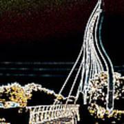 Melting Bridge Poster by David Alvarez