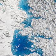 Meltwater Lakes On Hubbard Glacier Poster
