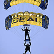 Members Of The U.s. Navy Parachute Poster