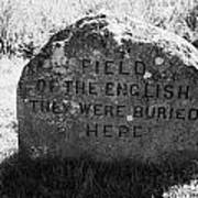 memorial stone for the dead english on Culloden moor battlefield site highlands scotland Poster by Joe Fox