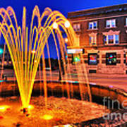 Menasha Lighted Fountain Poster