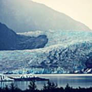 Mendenhall Glacier On A Foggy Morning Poster