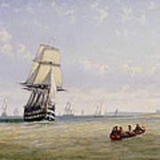 Meno War Schooners And Royal Navy Yachts Poster