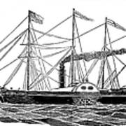 Merchant Steamship, 1838 Poster