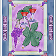 Merlot Fine Wines Orchard Box Label Poster