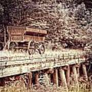Metal Wagon On The Trestle Poster