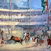 Mexico: Bullfight, 1833 Poster