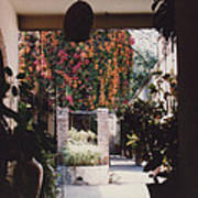 Mexico Garden Patio By Tom Ray Poster