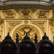 Mezquita Cathedral Choir Stalls Details Poster