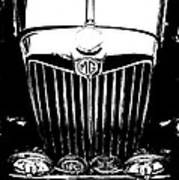Mg Grill Black And White Poster
