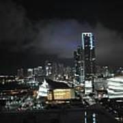 Miami At Night Poster