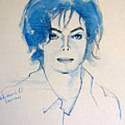 Michael Jackson - Gimme Your Wings Poster by Hitomi Osanai