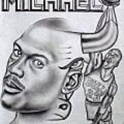 Michael Jordan Double Exposure Poster by Rick Hill
