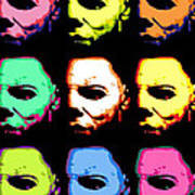 Michael Myers Mask Pop Art Poster