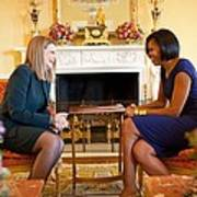 Michelle Obama Greets Mrs. Ada Poster