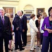 Michelle Obama Laughs With Guests Poster