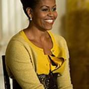 Michelle Obama Wearing A J. Crew Poster