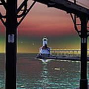 Michigan City Lighthouse 2 Poster