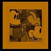 Mickey In Orange Poster