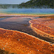 Middle Hot Springs Yellowstone Poster