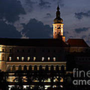 Mikulov Castle At Night Poster by Michal Boubin
