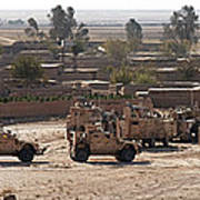 Military Vehicles Parked Outside Loy Poster