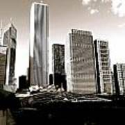 Millenium Park Skyscrapers Poster