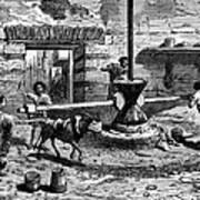 Milling Flour, Historical Artwork Poster