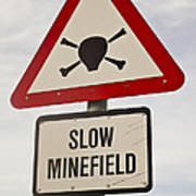 Minefield Road Sign Falkland Islands Poster