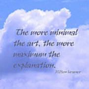 Minimal Art Poster