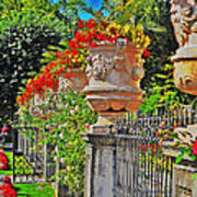 Mirabell Gardens In Salzburg Hdr Poster by Mary Machare