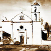 Mission San Luis Rey In Sepia Poster by Kip DeVore