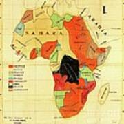 Missionary Map Of Africa Poster