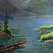 Misty Lake Poster