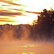 Misty Sunrise Poster