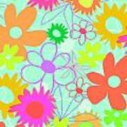 Mixed Flowers Poster
