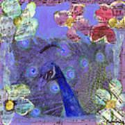 Mixed Media Peacock Art - Gipsy Rondo Poster