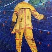 Mocko Jumbie In Yellow Poster