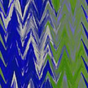 Moda Chevron Pattern IIi Poster by Ricki Mountain