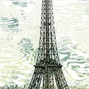 Modern-art Eiffel Tower 12 Poster