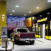 Modern Gas Station Poster